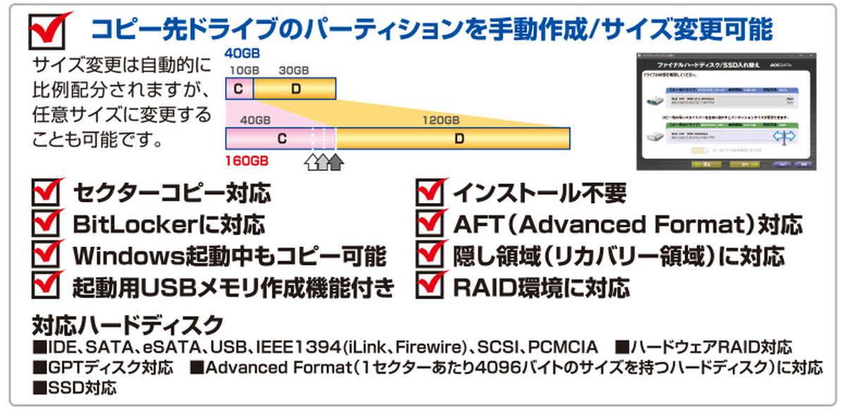 ファイナルハードディスク/SSD入れ替え